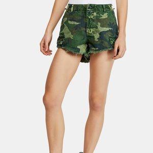 Free People Commander Cutoff Printed Shorts